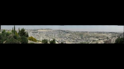 "Israeli Wall cuts through Jerusalem 2 (photo from the ""Green Line"" looking East)"