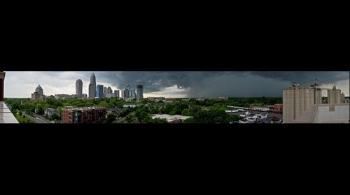 Approaching Storm | Charlotte NC Skyline From The Garrison at Graham
