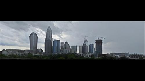 Uptown Charlotte Skyline After the Rain