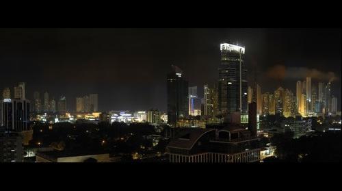 Panama @ night - Buildings