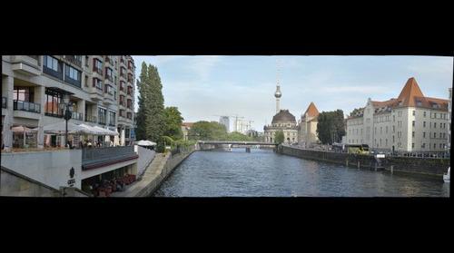 Berlin Alex, Spree and Bode Museum shot from Friedrichstrasse