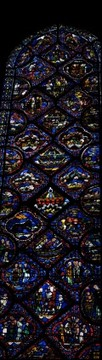 Nave stained glass window, Chartres Cathedral, France
