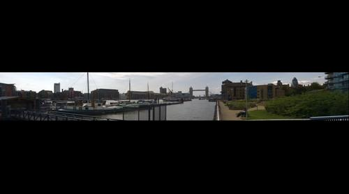 View towards london tower bridge from near wapping