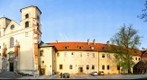 Tyniec abbey yard