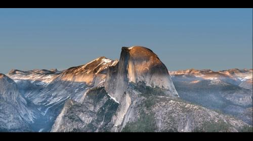 Half Dome and Tenaya Canyon at Full Moon Rise