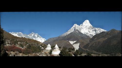 Lhotse & Ama Dablam From Pangboche