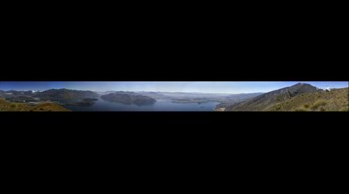 Mt Aspiring, Lake Wanaka from Mt Roy, South Island  New Zealand