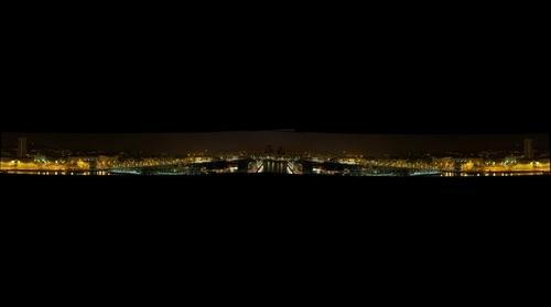 Barcelona Mirrored Skyline