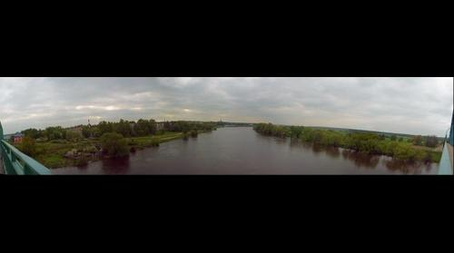 Bronnitsy view from the bridge.  Russia
