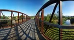 Pedestrian Bridge, Los Gatos Creek Trail, Los Gatos, California