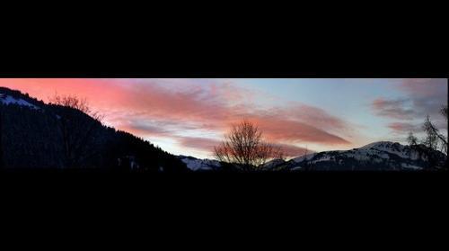 coucher de soleil sur les giettes le 1.1.08