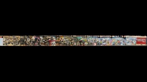 Melbourne icons in Dimmeys Mural Street Art
