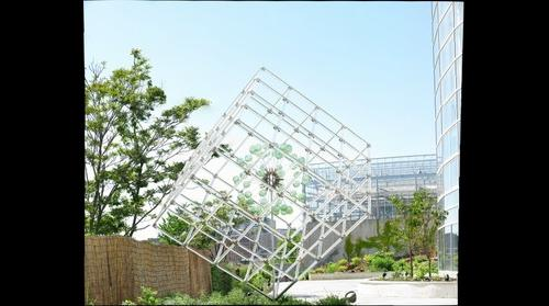Glass cube behind Phipps Conservatory, Pittsburgh, Pennsylvania
