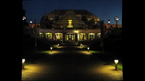 Phipps Conservatory at dusk