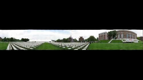 Andrus field, day before commencement