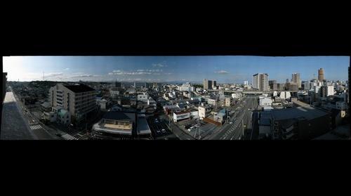Hamamatsu City, Japan NW to SE at 元浜町交差点 by PoPBunka! 英会話 浜松市
