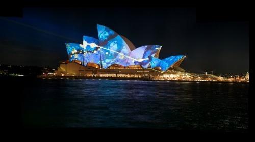 Sydney Opera House during Sydney Festival 2009