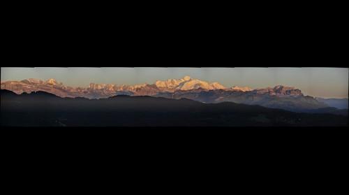 Les Gets, Mont-Blanc le soir