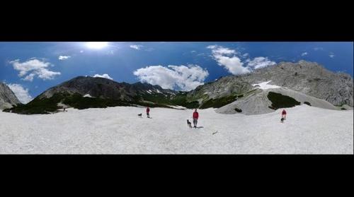 Hiking to Hochschwab in Styria, Austria - view to Voisthaler Huette