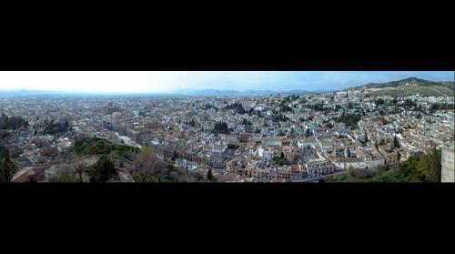 Granada, desde la Torre de la Vela de la Alhambra