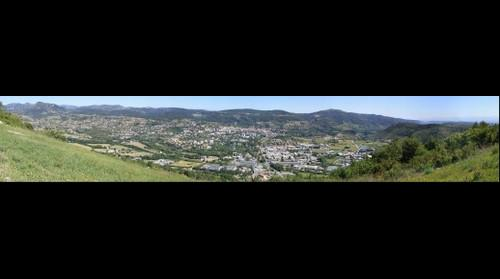 Vue Panoramique de Privas depuis la montée de Chabanet - Ardèche