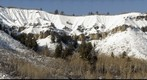 Snowmass Cliff With Snow, Superzoom 750mm detail