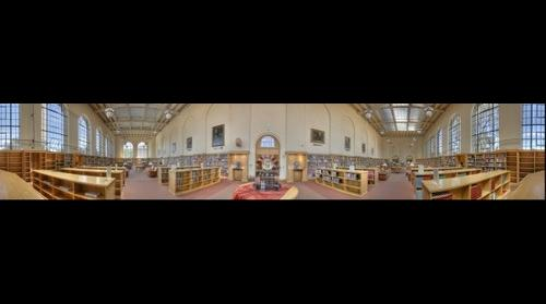 Meyer Library interior Panoramic