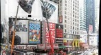 Times Square, New York City, Changing the billboard - view from the RED Steps in Times Square