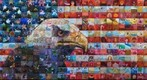 mural mosaic usa flag