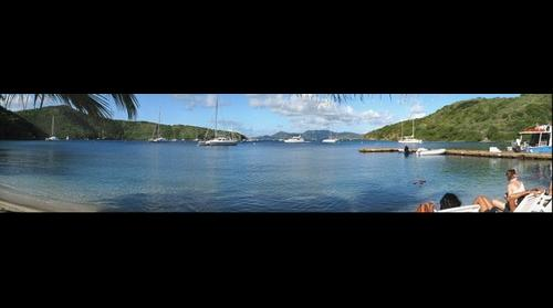 View of Pirates Bight from Pirates, Norman island, BVI