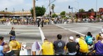 Waiting for the Lakers Victory Parade, Los Angeles 
