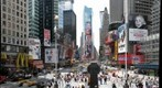 New York City, Times Square, view from the red steps