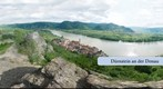 360 view of Drnstein on the Danube, Wachau valley, Lower Austria