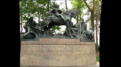 Monument to George Rogers Clark by Robert Aitken