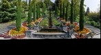 Italienische Blumen-Wassertreppe Mainau Bodensee von unten