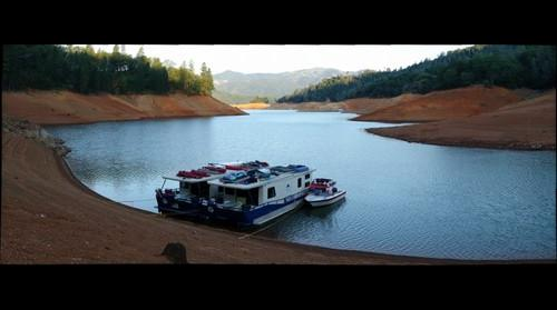 Lake Shasta just after dawn