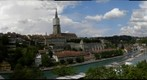 Bern, view frome the Kornhausbrücke (Cornhousebridge) to the old city with cathedral