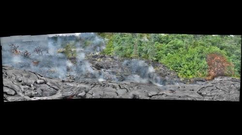 Kilauea-active flowfield-fresh pahoehoe