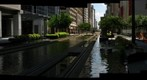 Houston, Texas:  Canyons - MetroRail Redline Main Street Square Southbound 3/16 - a 360 Panorama