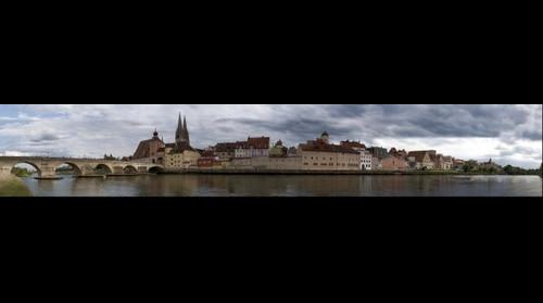 waterside of Regensburg - germany