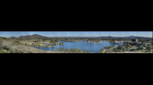 Lake Murray of Mission Trails Regional Park in San Diego