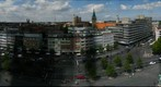 Vista of Braunschweig (Brunswick), Deutschland (Germany) from atop the Schloss Arkaden (the downtown mall)