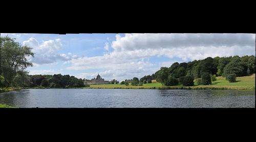Castle Howard with lake in foreground