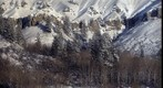 Snowmass Cliff Wall Sunrise, 750mm telephoto lens used to create