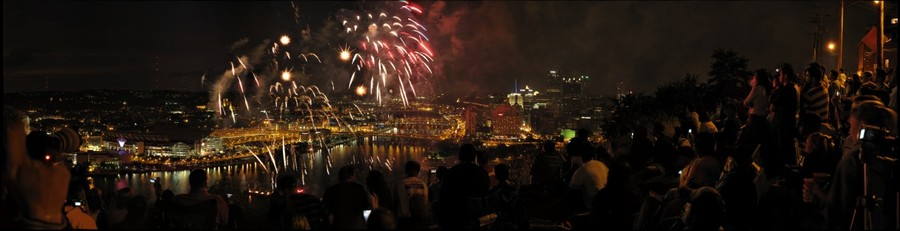 Fourth of July Fireworks, Pittsburgh, Pennsylvania