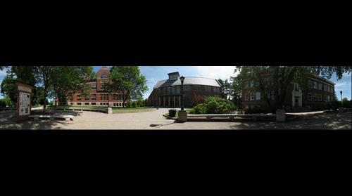 University of New Hampshire Thompson Hall Courtyard