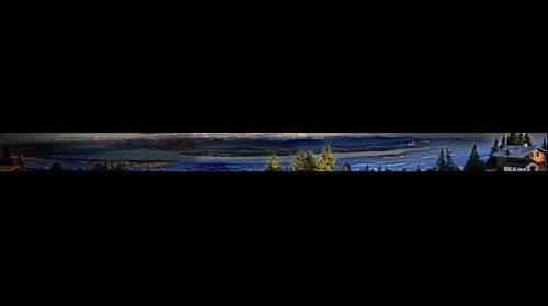 Vue depuis La Barillette sur tous le Bassin Lemanique