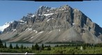 Bow Lake, Crowfoot Mountain and glacier 