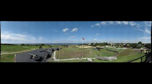 Fort Moultrie Charleston South Carolina with Fort Sumter
