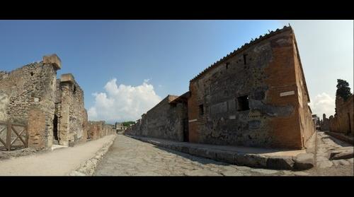 Pompeii street panorama